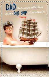 Funny Big Ship Dad Father's Day Card
