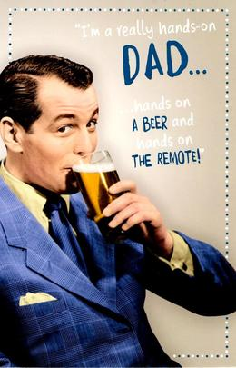 Funny Beer & Remote Father's Day Card
