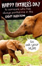 Funny Go Ask Mum Father's Day Card
