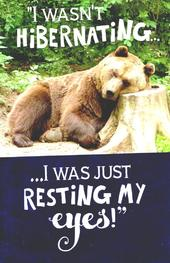Funny Resting My Eyes Father's Day Card