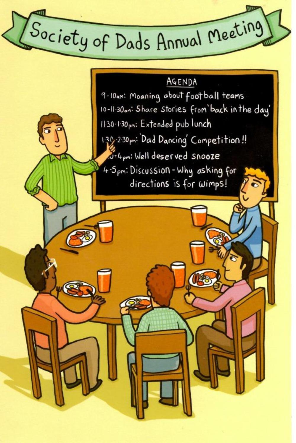 Funny Dad's Annual Meeting Father's Day Card