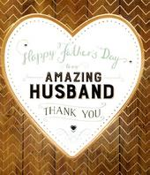 Amazing Husband Happy Father's Day Card