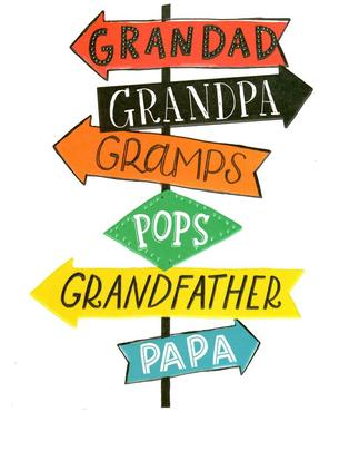 Grandpa Gramps Pops Papa Father's Day Card