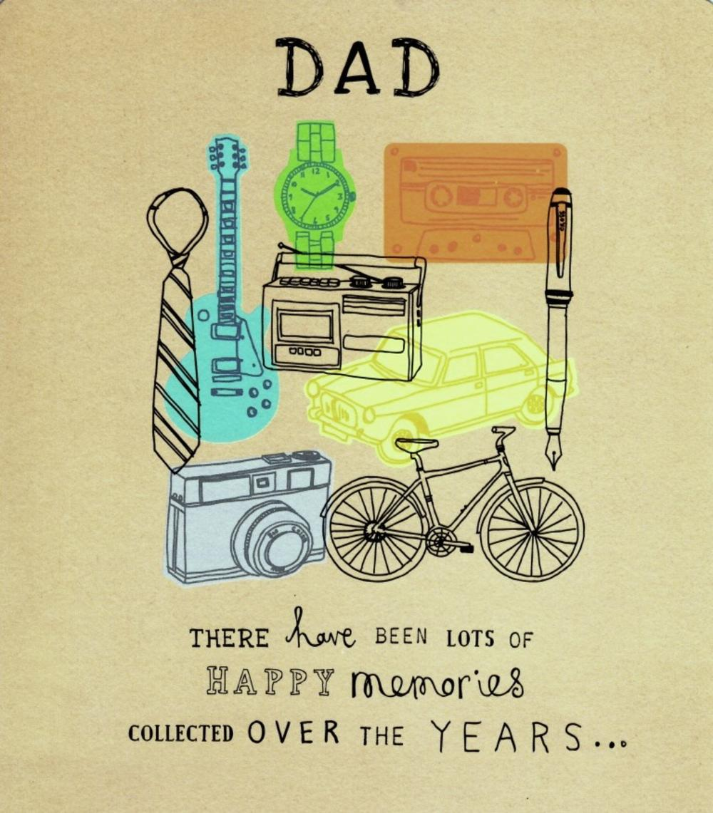 Dad Many Memories Over The Years Father's Day Card
