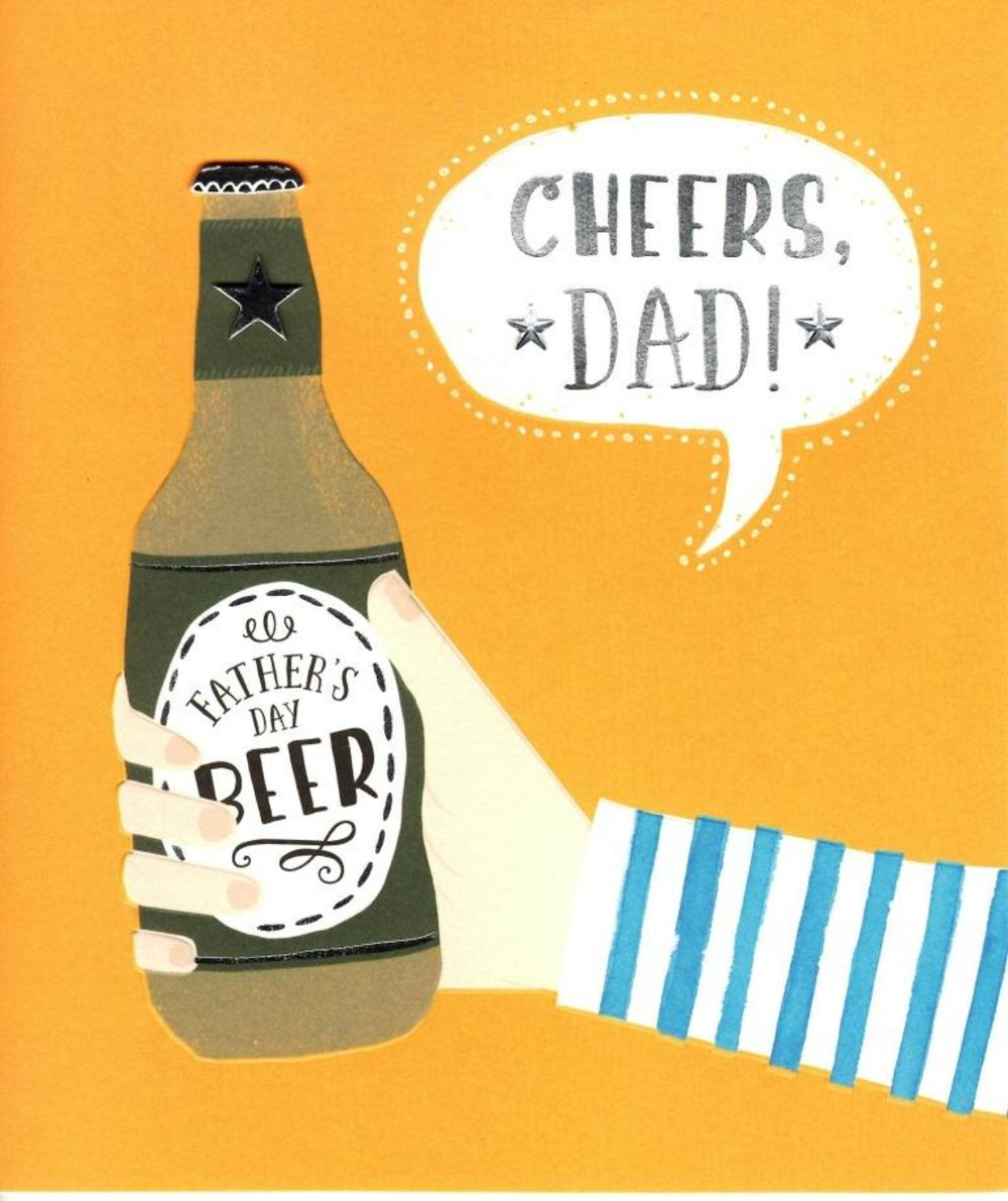 Cheers Dad Fathers Day Beer Card Cards