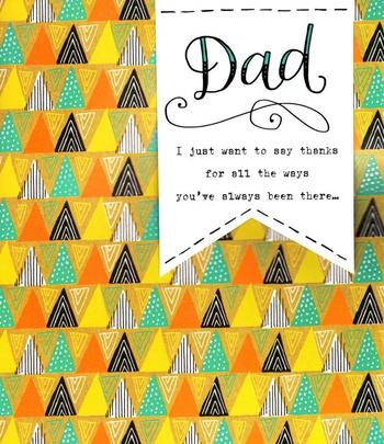 Thanks Dad Embellished Father's Day Card