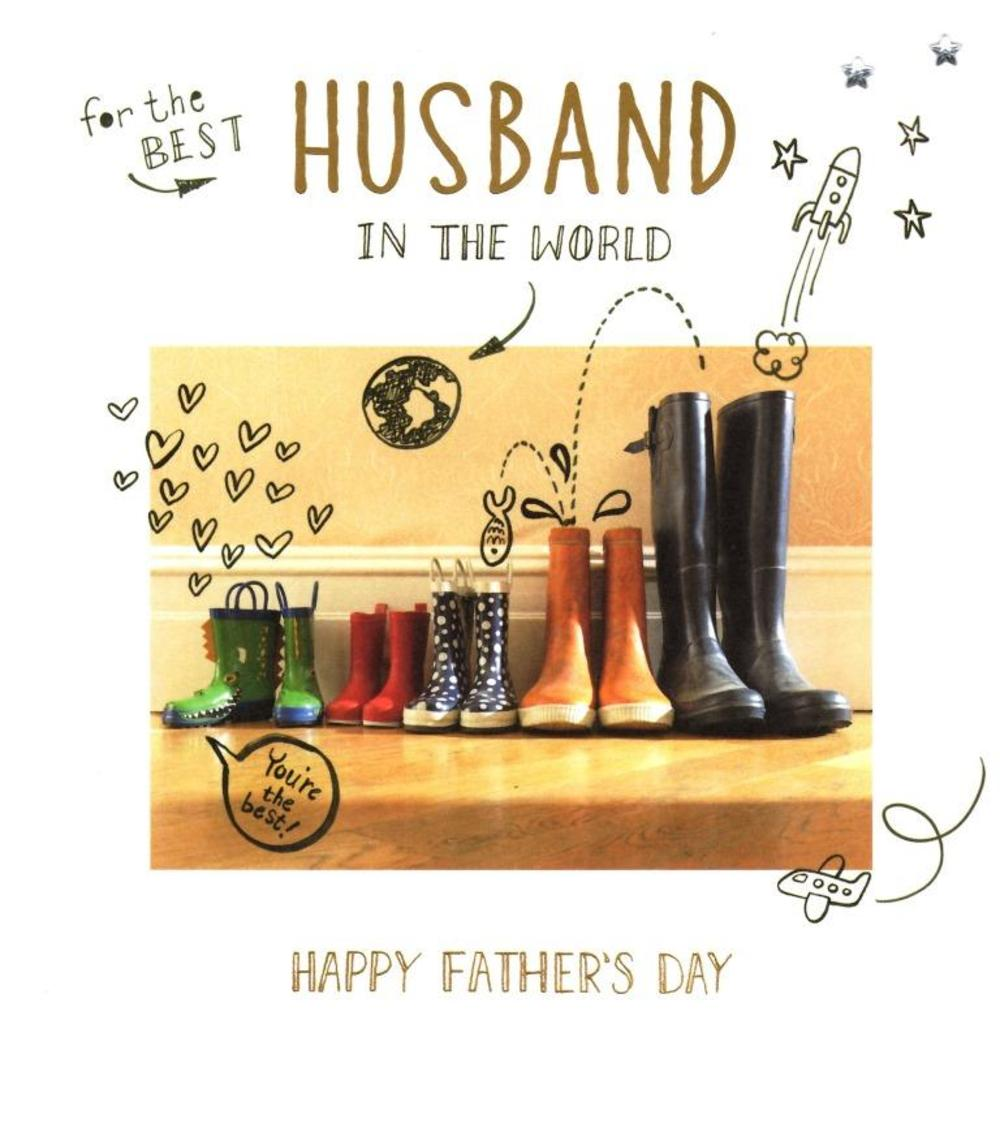 Best Husband In The World Fathers Day Card Cards