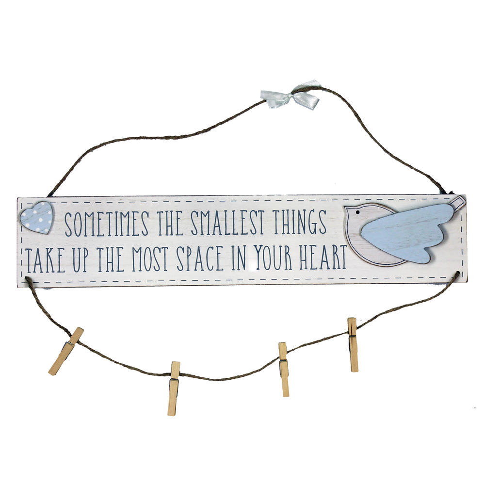 Petit Cheri Little Things Blue Hanging Plaque With Pegs