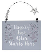 Happily Ever After Wooden Hanging Plaque Wedding Gift