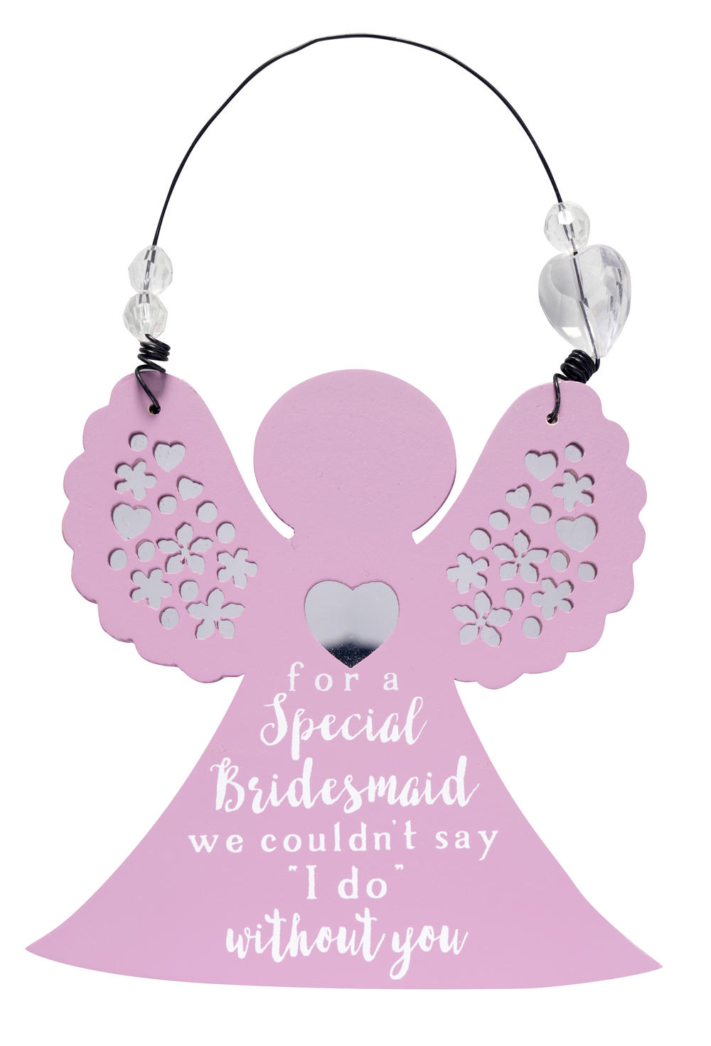 Angel Shaped Hanging Plaque Bridesmaid Gift