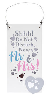 Do Not Disturb Wooden Hanging Plaque Wedding Gift