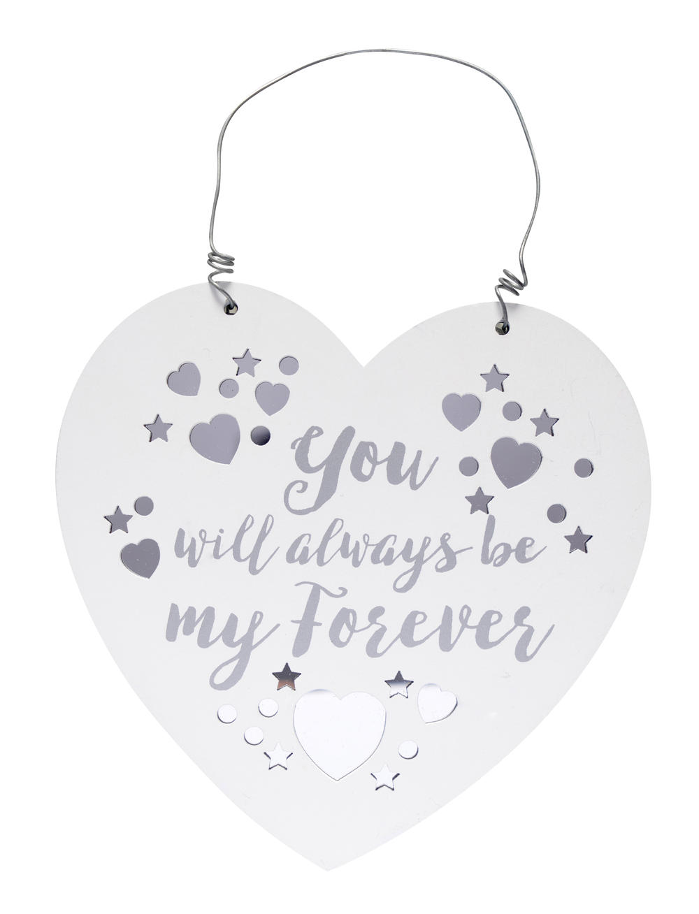 Be My Forever Wooden Hanging Heart Plaque Wedding Gift