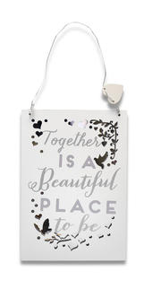 Together A Beautiful Place Wooden Hanging Plaque Wedding Gift