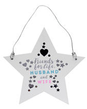 Friends For Life Wooden Hanging Star Plaque Wedding Gift