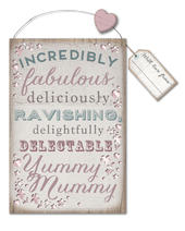 Yummy Mummy Hanging Plaque Gift