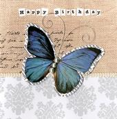 Embellished Butterfly Happy Birthday Card