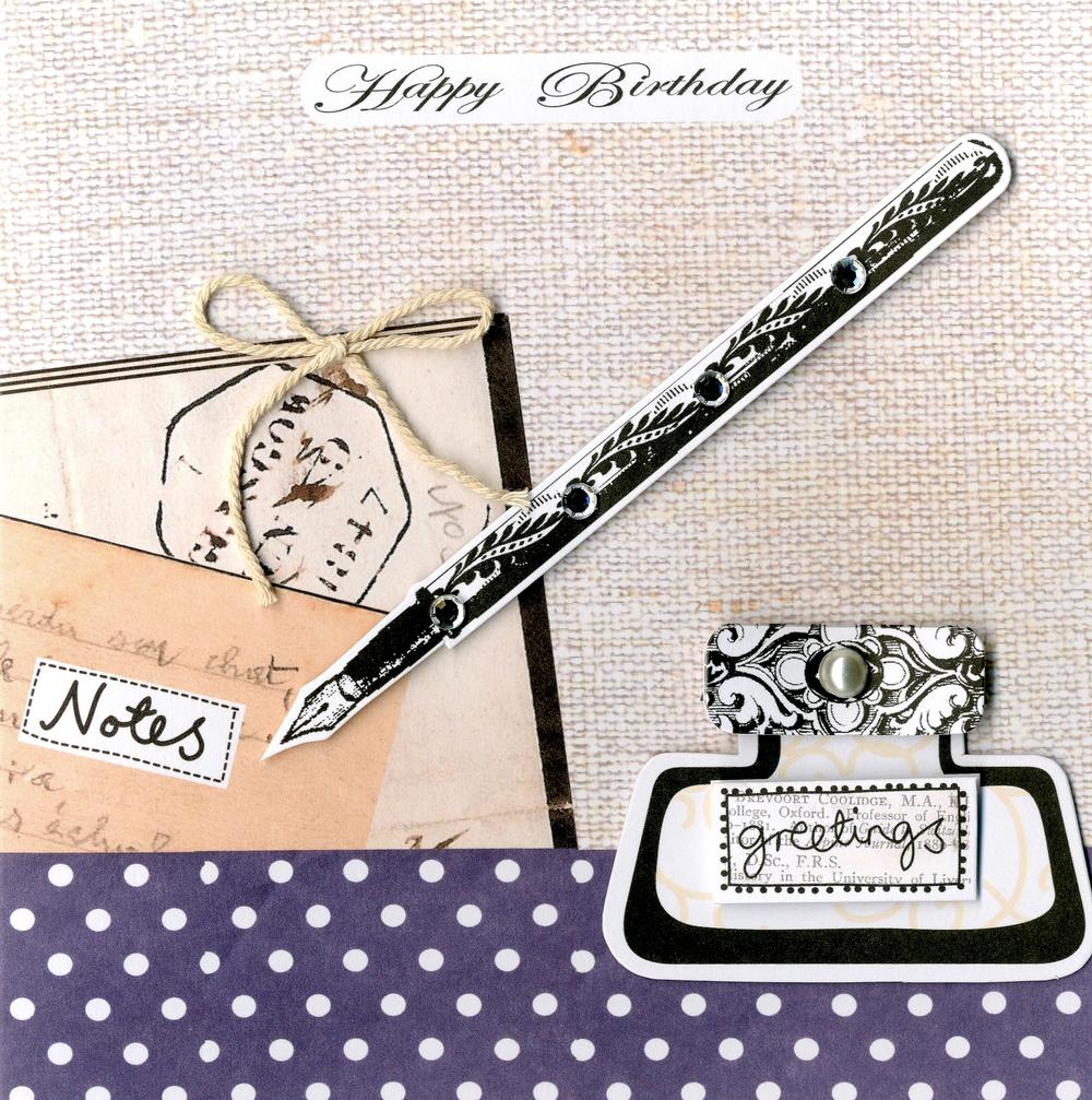 Embellished Greetings Happy Birthday Card