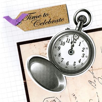 Embellished Time To Celebrate Birthday Card