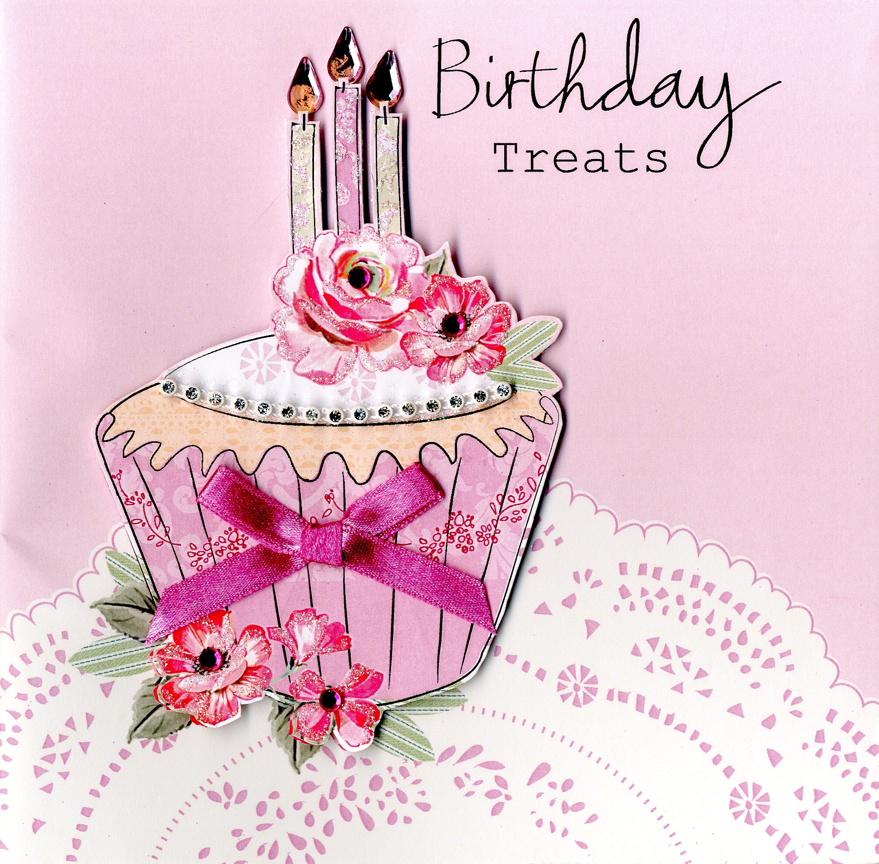 Embellished Cupcake Birthday Treats Card
