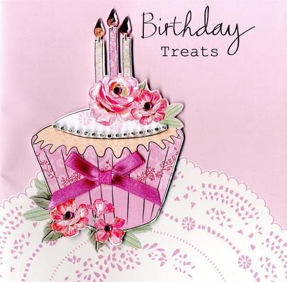 Embellished Cupcake Birthday Treats Card