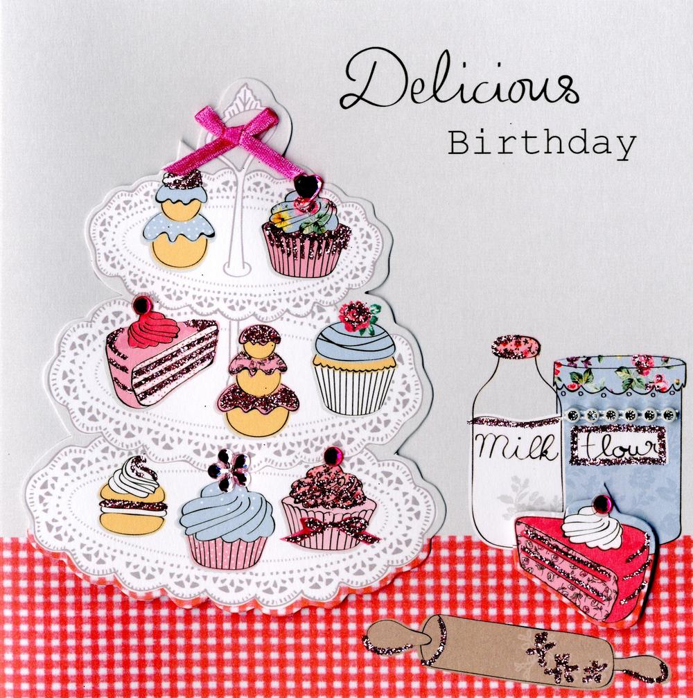 Embellished Delicious Birthday Card
