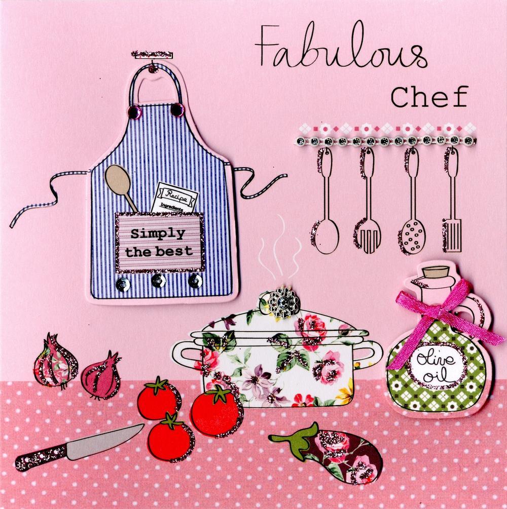 Embellished Fabulous Chef Birthday Card