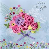 Embellished Just For You Greeting Card