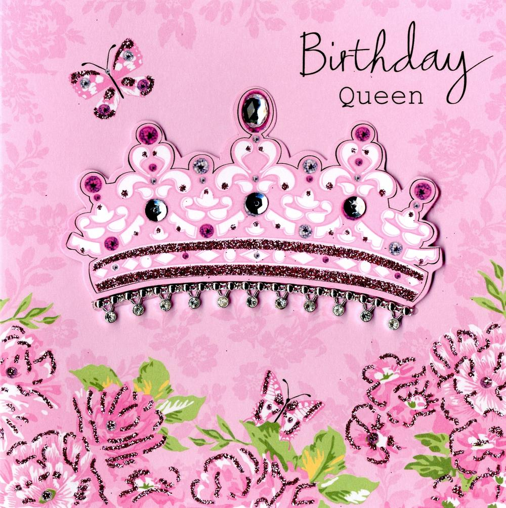 Embellished Birthday Queen Card