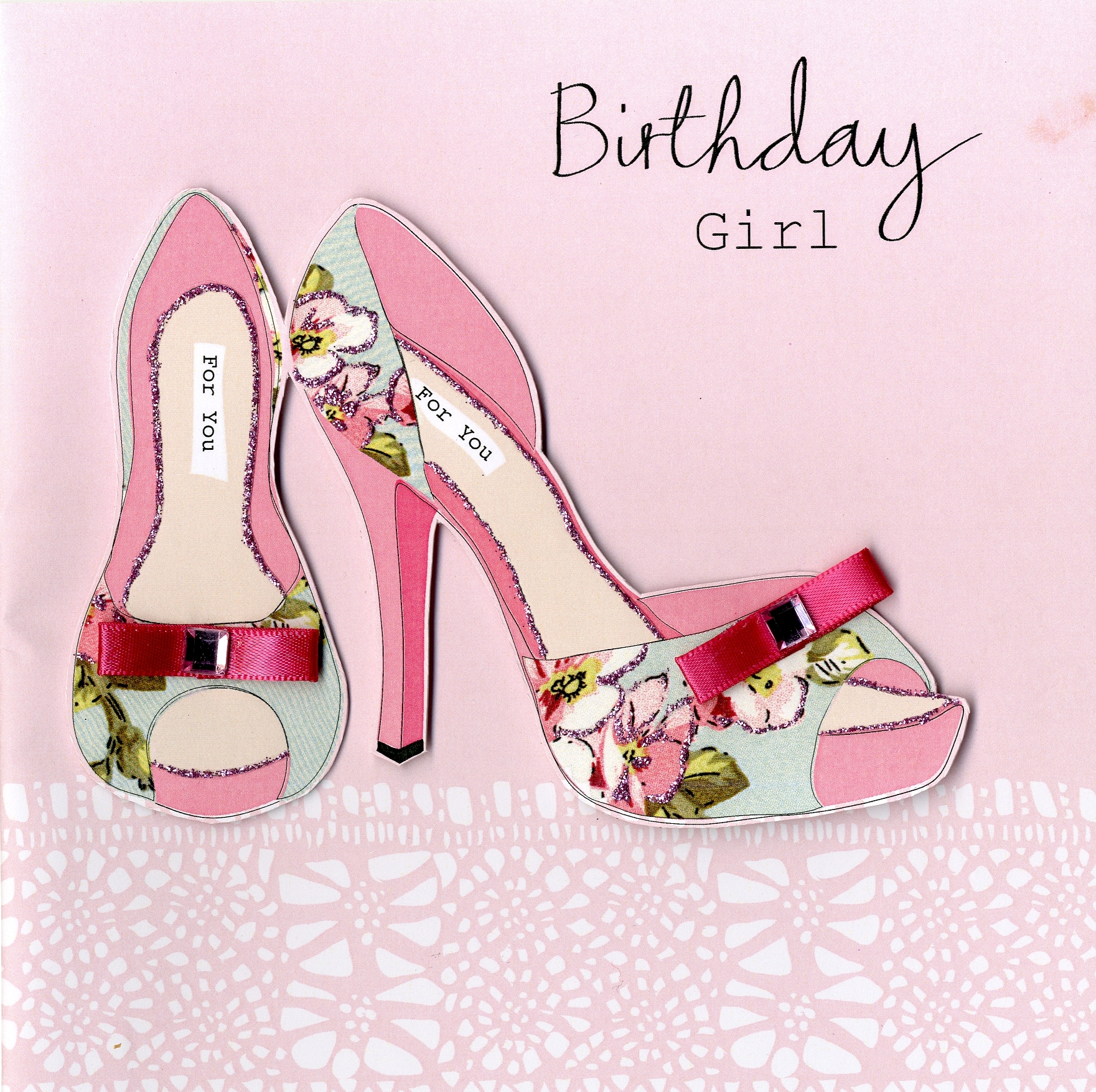 Embellished Birthday Girl Card