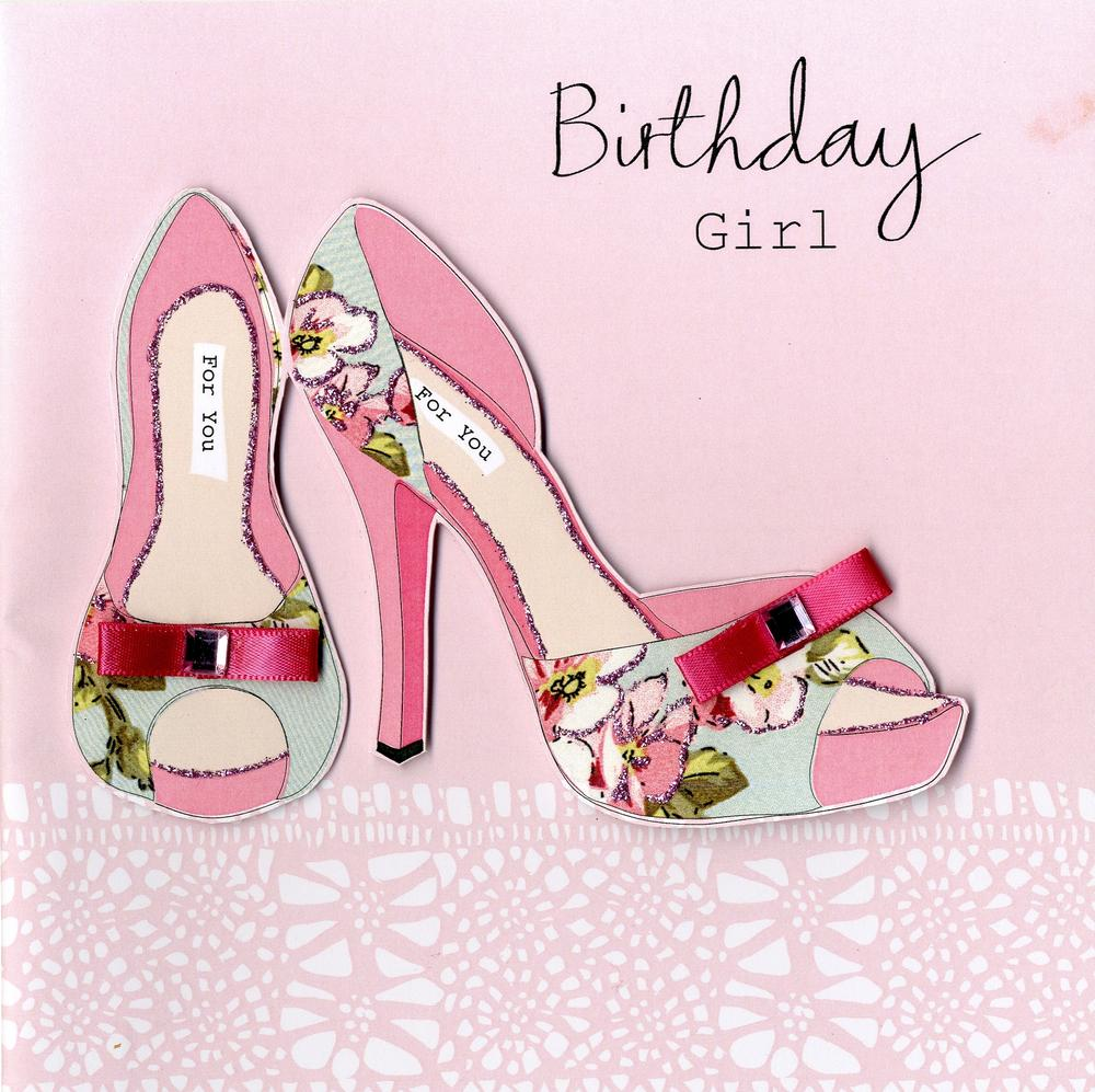 Embellished Birthday Girl Card