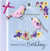 Embellished Bird Cage Birthday Card
