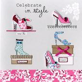 Embellished Shoes Celebrate Birthday Card
