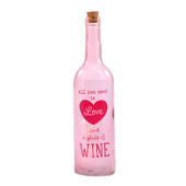 All You Need Is Love & Wine Light Up Bottle