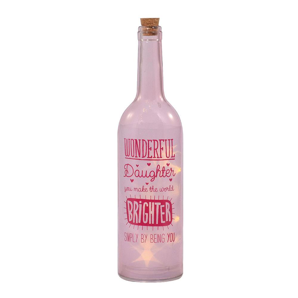 Daughter You Make The World Brighter Light Up Bottle