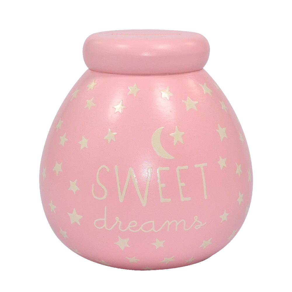 Glow In The Dark Small Pink Sweet Dreams Pots of Dreams Money Pot