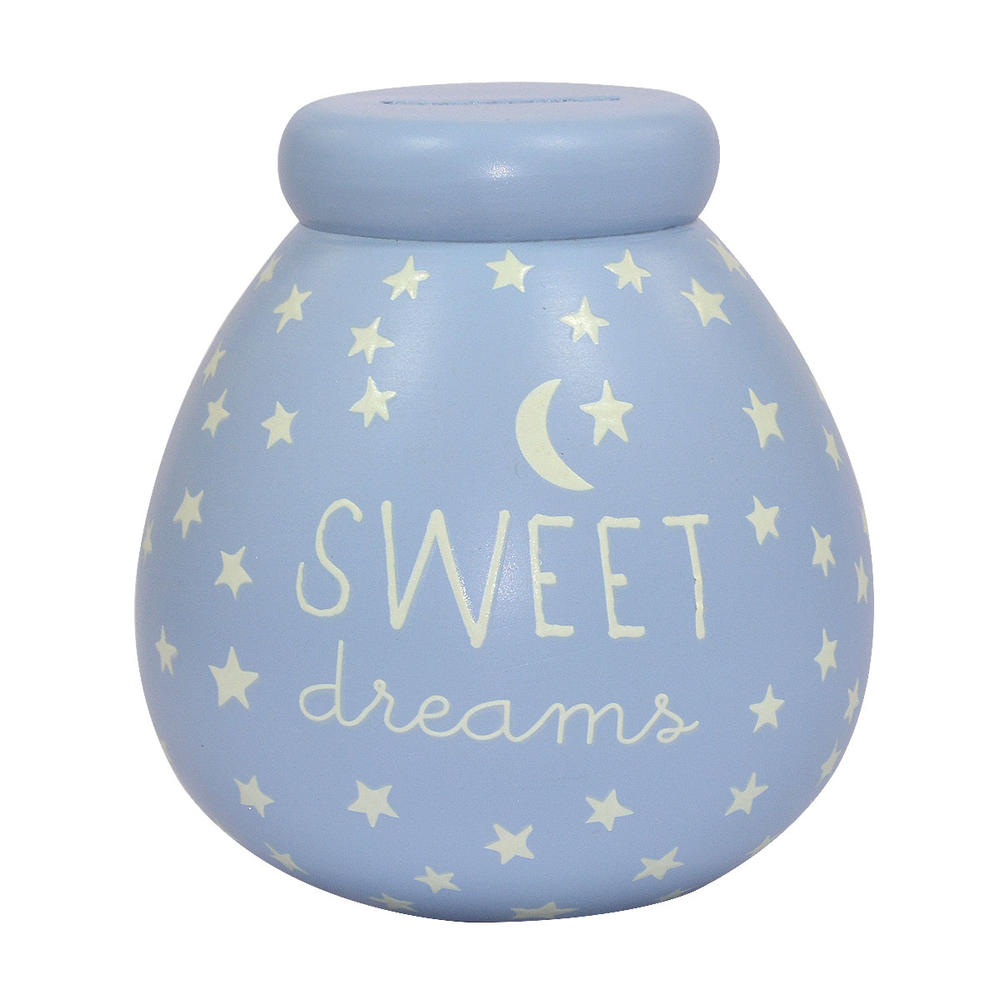 Glow In The Dark Small Blue Sweet Dreams Pots of Dreams Money Pot