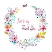 Pack of 10 Thank You Greeting Cards In 2 Designs Blank Inside