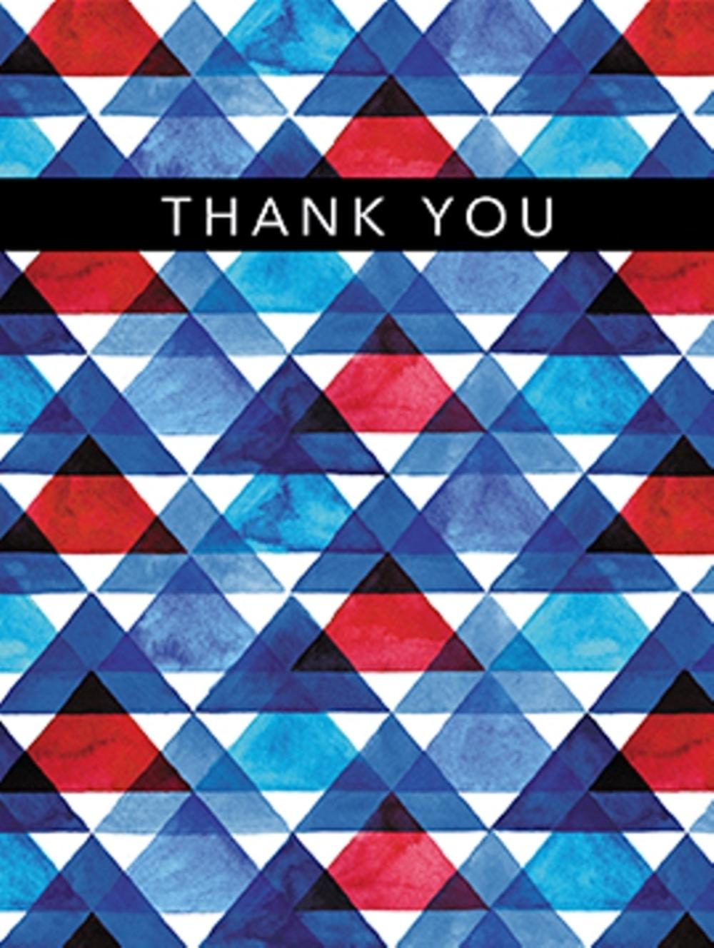 Pack of 4 Blank Thank You Greeting Cards Blank Inside