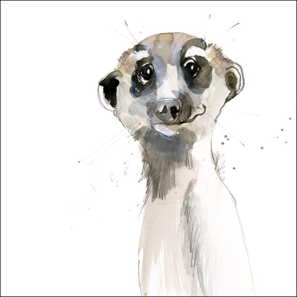 Meerkat Animal Magic Square Art Greeting Card