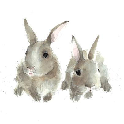 Baby Bunnies Animal Magic Square Art Greeting Card