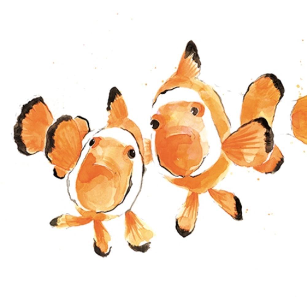 Clown Fish Animal Magic Square Art Greeting Card