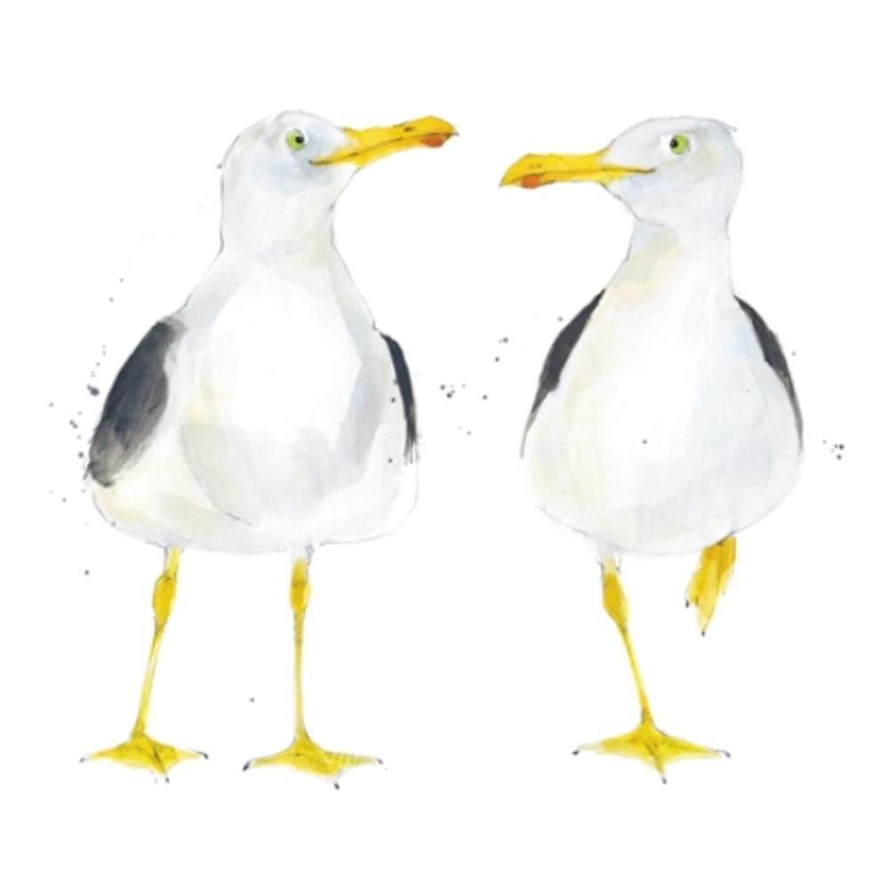 Seagulls Animal Magic Square Art Greeting Card