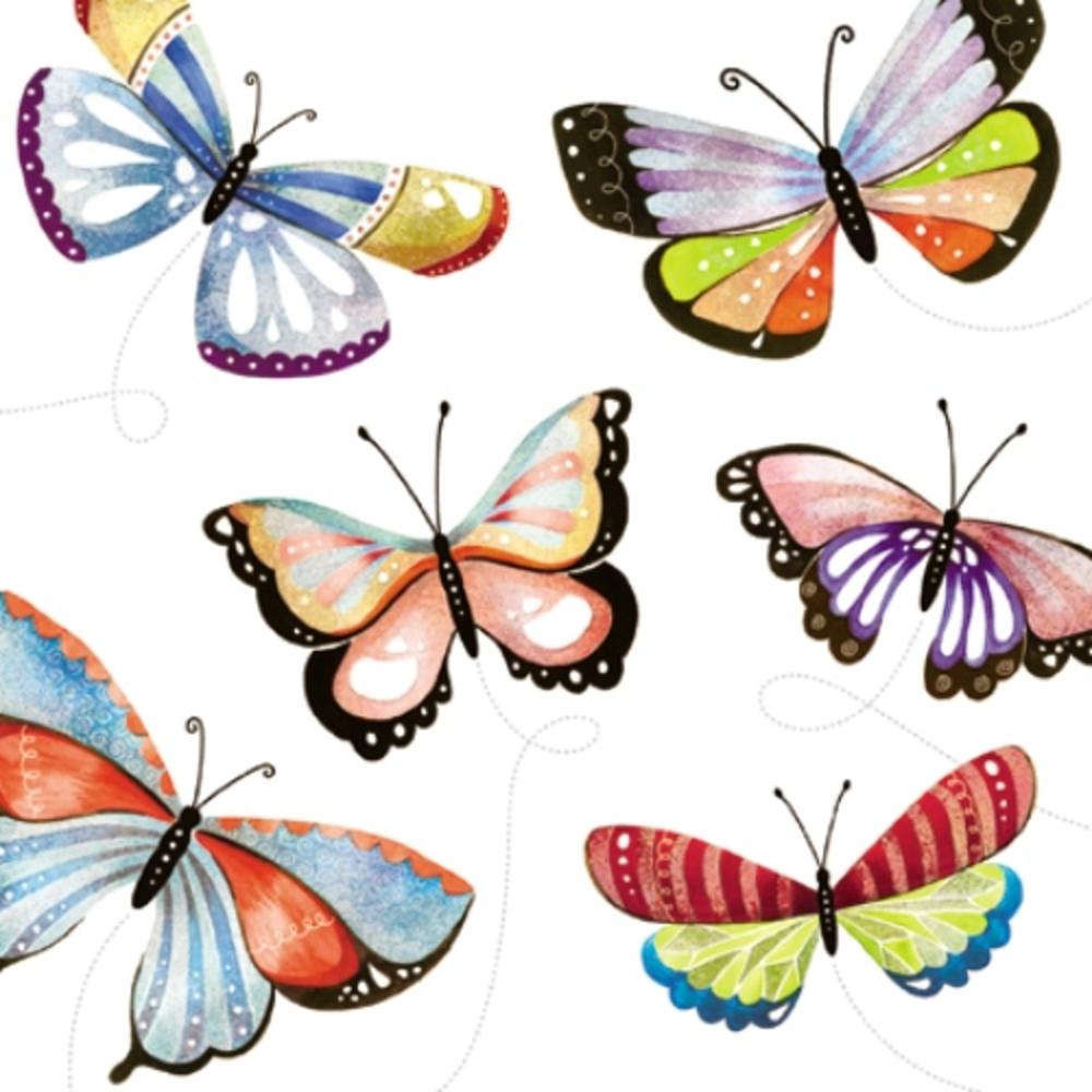 Butterflies Wildlife Square Art Greeting Card