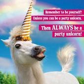 Avanti Party Unicorn Birthday Greeting Card