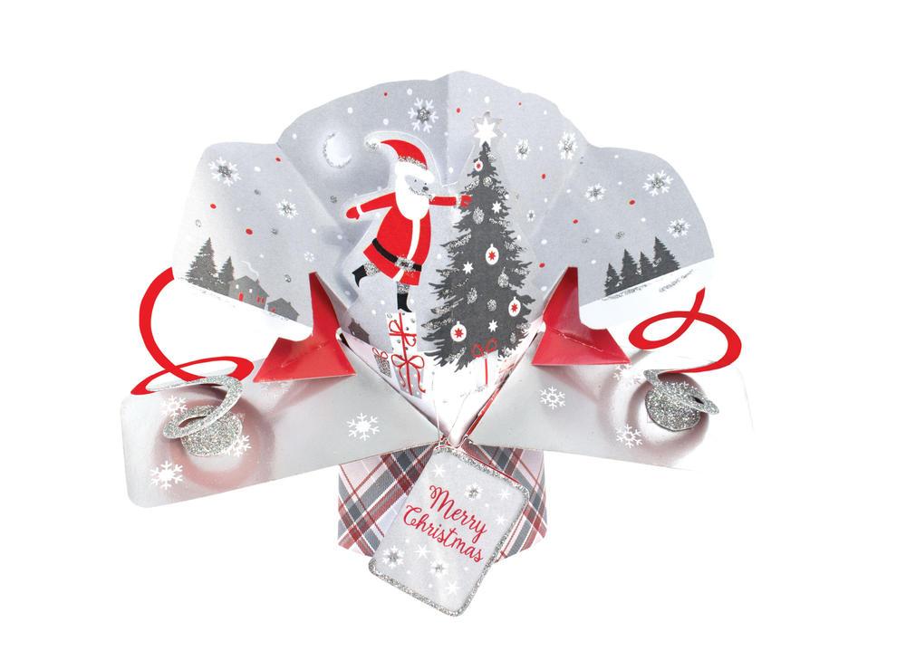 Santa Petite Christmas Pop-Up Greeting Card