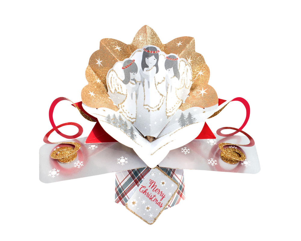 Angels Petite Christmas Pop-Up Greeting Card
