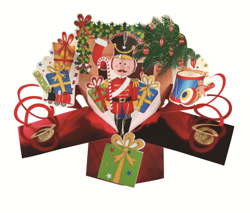 Nutcracker Petite Christmas Pop-Up Greeting Card