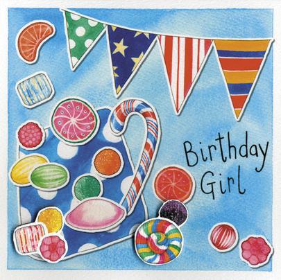 Birthday Girl Embellished Birthday Greeting Card