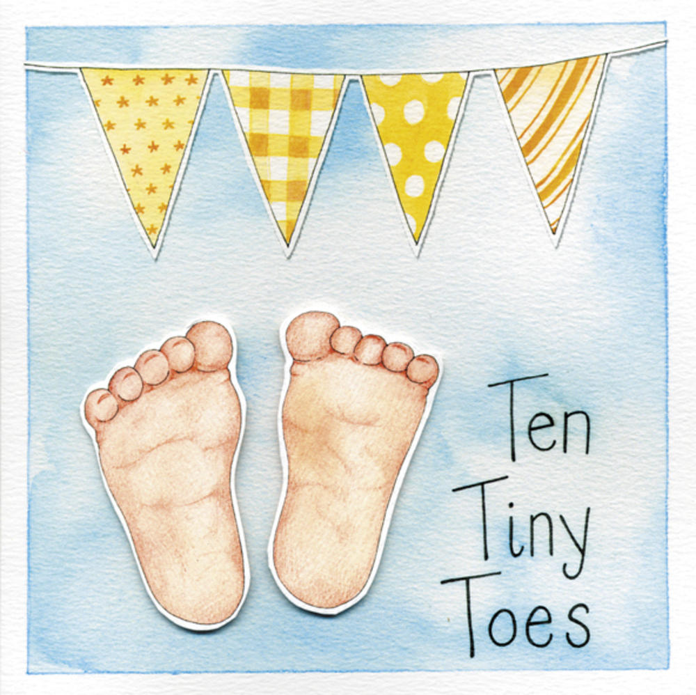 Ten Tiny Toes New Baby Greeting Card
