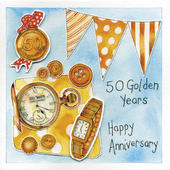 Happy 50th Golden Wedding Anniversary Greeting Card